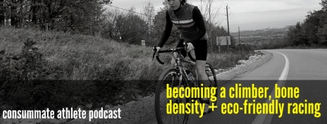 becoming a climber, bone density + eco-friendly racing