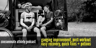 gauging improvement, post-workout easy recovery, quick fixes + potions