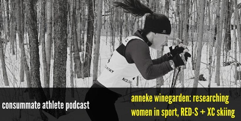 anneke winegarden_ researching women in sport, RED-S + XC skiing